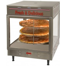 "18"" Humidified Rotating Pizza / Pretzel Warmer Display"