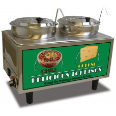 Chili & Cheese Warmer - 2 Ladles & Lids
