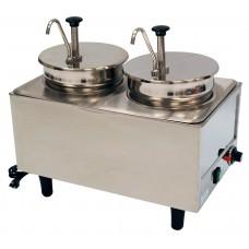 Dual Well Food Warmer - 2 Pumps