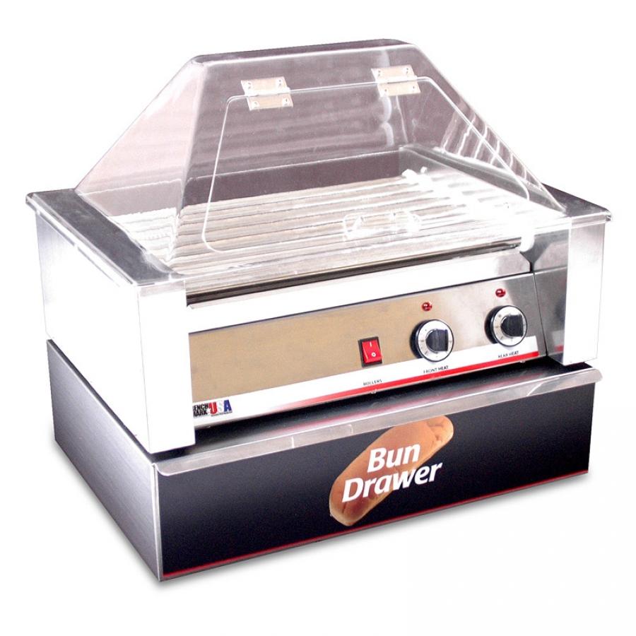 22 Width x 9 Height x 21 Depth Benchmark 64030 Sneeze Guard for 30 Hotdog Roller Grill